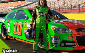 Auto racer Danica Patrick is sponsored by GoDaddy.