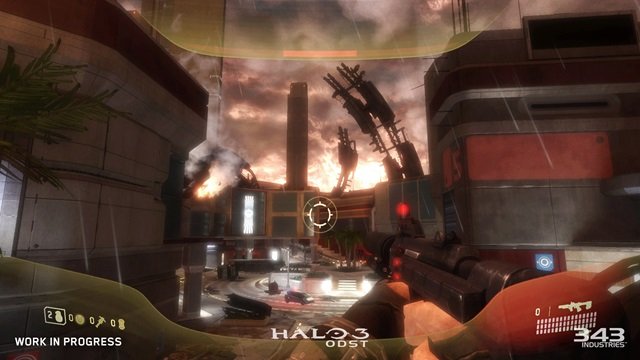 An early look at Halo 3: ODST running on Xbox One.