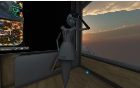 Avatars inside AltSpaceVR's Oculus environments have arms thanks to an integration with Microsoft's Kinect.