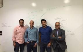 Rubrik's founders. From left, Arvind Nithrakashyap,  Arvind Jain, Soham Mazumdar, and Bipul Sinha.