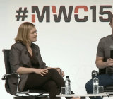 Facebook CEO Mark Zuckerberg speaking on stage at Mobile World Congress in Barcelona, Spain Monday.