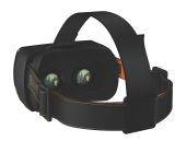 The OSVR headset's interior view.