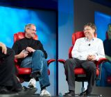 Steve Jobs and Bill Gates at the fifth D: All Things Digital conference (D5) in May 2007.