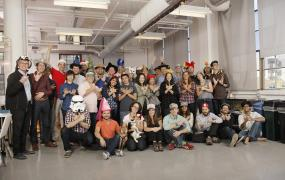 The WibiData team in a picture uploaded to Facebook on Nov. 11.