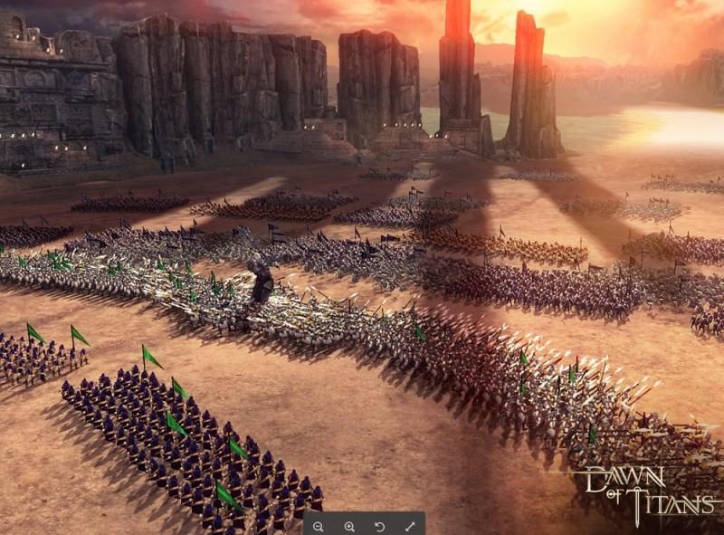 Dawn of Titans battle scene