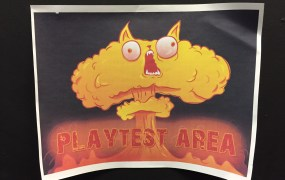 About 100 people got to take part in a play-test of Exploding Kittens in San Francisco Sunday.