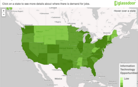 A new tool from Glassdoor shows IT jobs in local communities around the country.