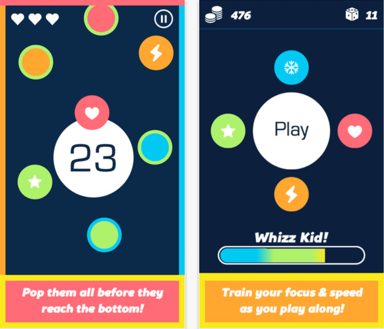 Color Blast, HomeLabs' first brain-training game to benefit Parkinson's Disease.