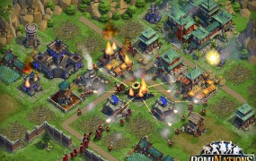 DomiNations has army on army combat.
