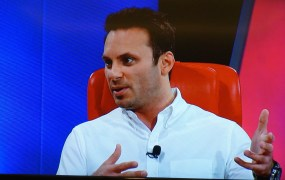 Brendan Iribe, chief executive of Oculus, onstage at the Code Conference in May 2015.