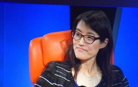 Ellen Pao, the interim CEO of Reddit, onstage at the Code Conference in May 2015.