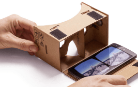 Google Cardboard turns Android phones into viewers for 3D content.