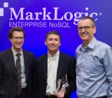 From left, MarkLogic chief executive Gary Bloom, ALM's Gene Bishop, and MarkLogic founder Christopher Lindblad.