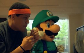 Reggie Fils-Aime, president of Nintendo of America, training for the World Championships.