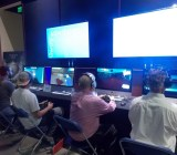 Student game Vanishing Point at USC's spring Demo Day.