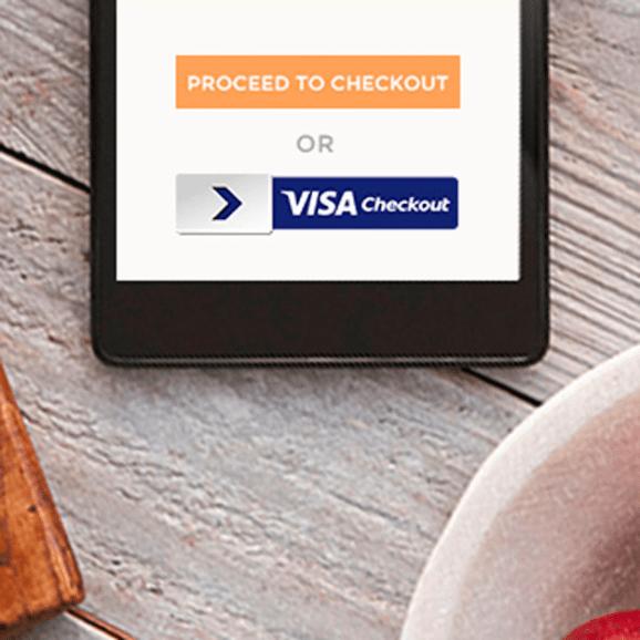 Visa Checkout marketing straddles real and digital