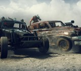 Mad Max side-ramming car combat.
