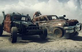 Mad Max side-ramming car combat.