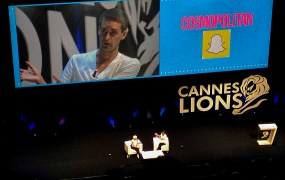 VentureBeat was in the front row for the interview of Evan Spiegel, CEO of Snapchat, at Cannes Lions.