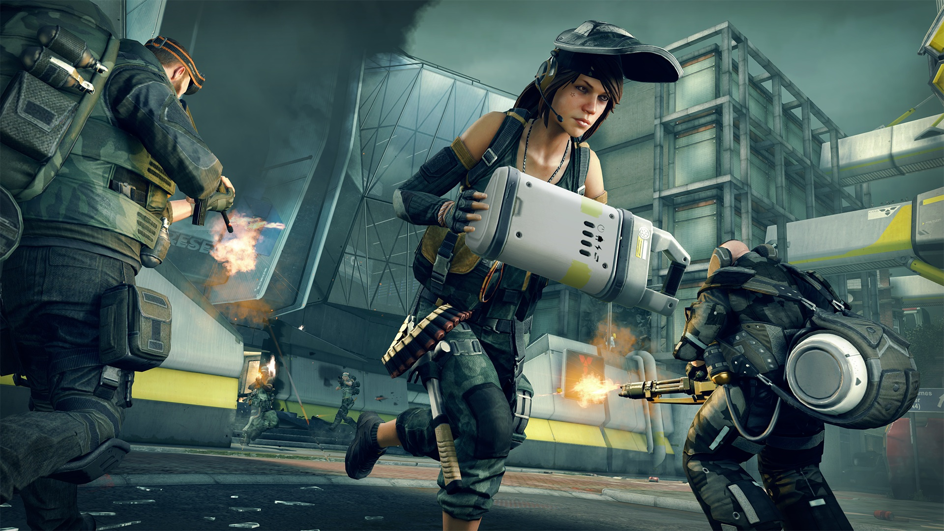 Dirty Bomb is a team-based shooter.
