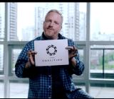 Rod Fergusson showing off his studio's new logo.