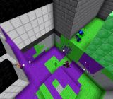 Splatoon looks pretty colorful in Minecraft, but it's obviously kind of blocky.