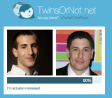 Me vs. Jason Biggs, as judged by Microsoft's TwinsOrNot app. What do you think?