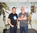Keiji Inafune and Armature's Mark Pacini.