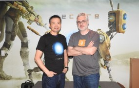 Keiji Inafune and Armature's Mark Pacini.