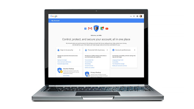 My Account, Google's new privacy dashboard for users.