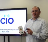 Dror Sharon of Consumer Physics shows off the Scio prototype.