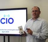 Dror Sharon of Consumer Physics shows off the Scio prototype.