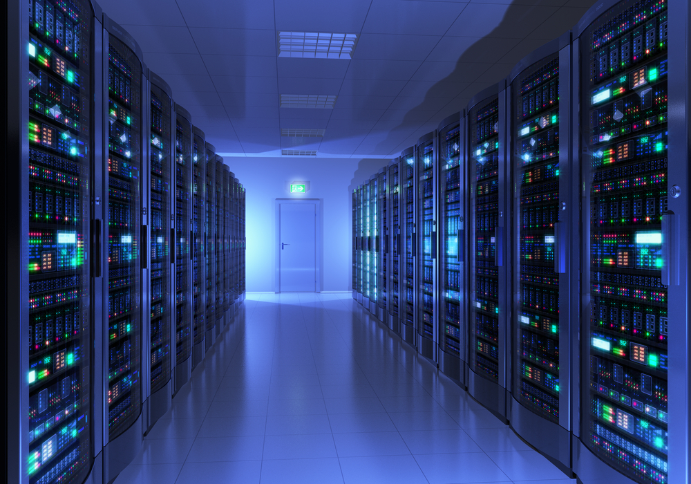 A datacenter server room.