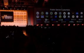 Amazon Web Services' AWS Summit conference in New York on July 9.