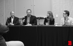 L to R: Rob Gelick (CBS Interactive),  John Bollen (MGM Resorts International), Robin Joy (DocuSign), Kendall Hulet (Ancestry.com)