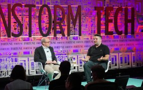 Quirky founder Ben Kaufman onstage with Fortune editor Alan Murray.