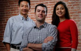 From left, Confluent cofounders Jun Rao, Jay Kreps, and Neha Narkhede.