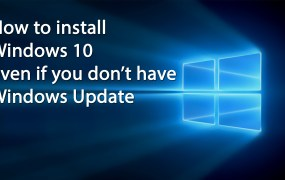 You don't need Windows Update to get onto Windows 10.