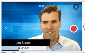 ClearSlide cofounder and chief business officer Jim Benton in a Video Mail.