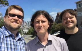 The Convox team: From left, David Dollar, Noah Zoschke, and Matthew Manning.