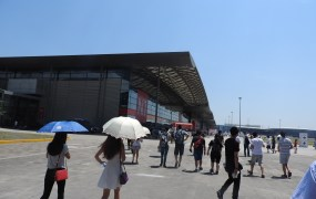 It was so hot at ChinaJoy 2015 that many women used umbrellas to ward off the sun.