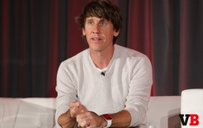 Foursquare chief executive Dennis Crowley speaks at VentureBeat's 2015 GrowthBeat conference in San Francisco on Aug. 18.