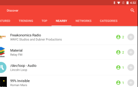 The Nearby Messages API is working inside the Pocket Casts app for Android to let you find podcasts that people around you have on their phones.