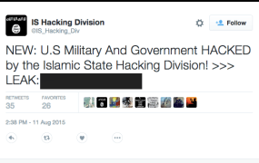 IS hacking division tweet