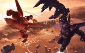 Concept art for the Big Hero 6 world in Kingdom Hearts 3.