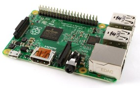 A Raspberry Pi 2 board.