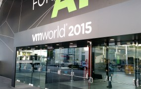 At VMware's 2015 VMworld conference in San Francisco on Aug. 31.