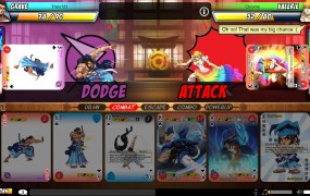 Both players go through their turns at the same time in Yomi, and matches go by quickly.