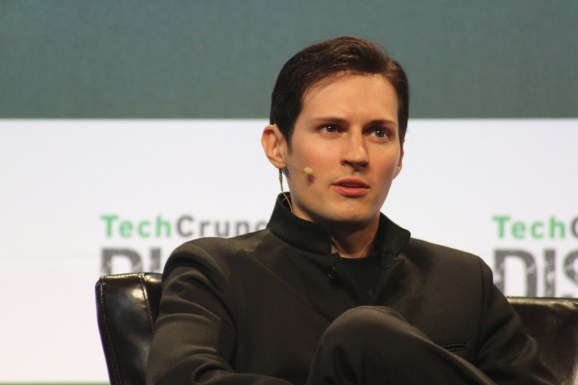 Telegram CEO Pavel Durov at TechCrunch Disrupt conference in San Francisco on September 21, 2015.