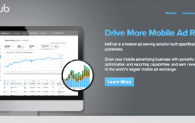 MoPub homepage screenshot